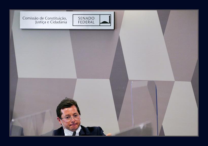 Fabio Wajngarten em seu depoimento perante os senadores na CPI da Pandemia de Covid - Foto Orlando Brito